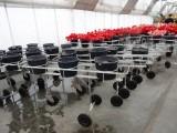 Wózki służące do zwożenia ściętych kwiatów ze szklarni wykonała firma Metazet